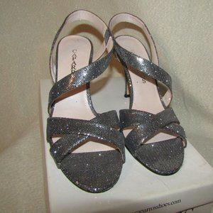 Caparros Silver Glitter Heels